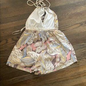 Sabo Skirt Other - Backless halter romper